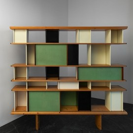 "Charlotte Perriand - Bookshelf  ""maison du mexique"", ca 1952"