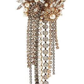Erickson Beamon - Hunger gold-plated, faux pearl and crystal brooch