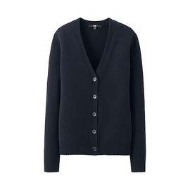 Uniqlo - W's lambswool blend V neck L/S cardigan