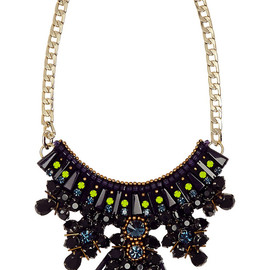MATTHEW WILLIAMSON - Gold-plated, crystal and acrylic necklace