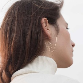 KNOBBLY x LAURIE FRANCK, KNOBBLY, LAURIE FRANCK - Deconstructed Nude Earring / Large