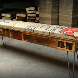 RecycledBrooklyn - Recycled Coffee Sack Storage Benches