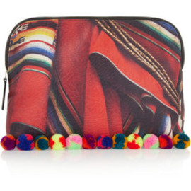 MARIO TESTINO FOR MATE - Liwi printed textured-satin clutch