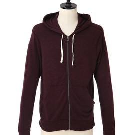 James Perse - VINTAGE FLEECE HOODIE - eggplant MXT2130-Fall