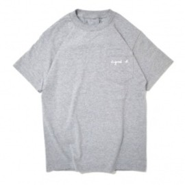 Goodblank - a good b pocket TEE Grey/White