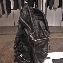 Alexander Wang - BACKPACK(Black Leather × Silver Zip)