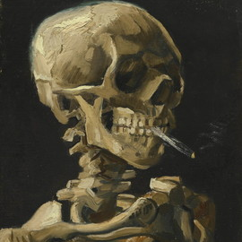 Vincent van Gogh - Skull with Burning Cigarette 「タバコをくわえた頭蓋骨」