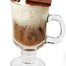 Coffee Cocktail - With Ice-cream And Chocolate Royalty Free Stock