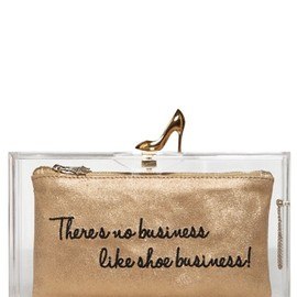 Charlotte Olympia - Loves Shoes Pandora Perspex Clutch