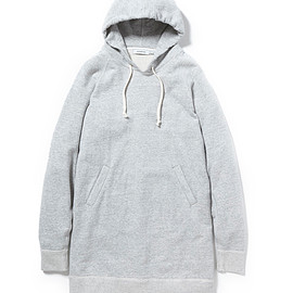 nonnative - DWELLER HOODED PULLOVER LOOSE-FIT COTTON MARBLE SWEAT