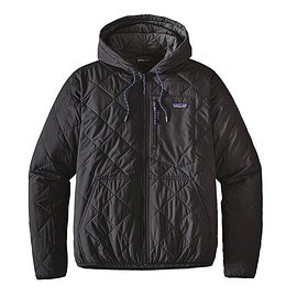 patagonia - DIAMOND QUILTED BOMBER HOODY, Black (BLK)