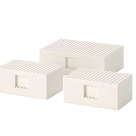IKEA, LEGO - BYGGLEK: LEGO box with lid, set of 3