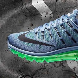 Nike - AIR MAX 2016 Blue grey/Black/Electric green/Ocean fog