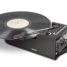 Ion - Ion IT34 Duo Deck Ultra-Portable USB Turntable with Cassette Deck