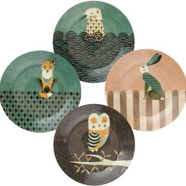 Design My World - Wildlife Dusk Plate Set