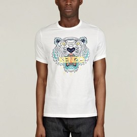 KENZO - Men's White Jungle Cotton T-Shirt