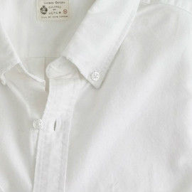 J.CREW - Distressed oxford shirt (White)