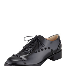VALENTINO - Rockstud Leather Oxford