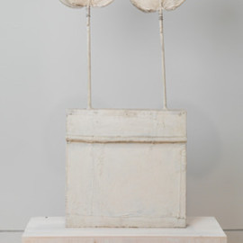 Cy Twombly - Untittled, Sculpture, alabaster & wood