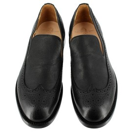 Yuketen - 700-1604 Black Wingtip Slip On