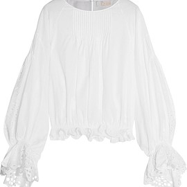 Chloé - Broderie anglaise cotton blouse