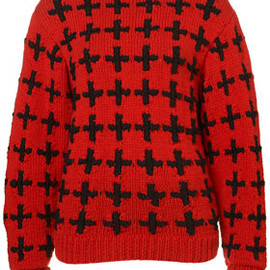 TOPSHOP - Handknit Cross Jumper by Unique