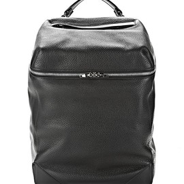 ALEXANDER WANG - WALLIE BACKPACK IN SOFT PEBBLED BLACK WITH RHODIUM HARDWARE
