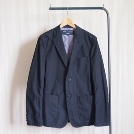 COMME des GARCONS HOMME - 綿タイプライタージャケット #navy
