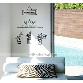 wallstickerdeal.com - Happy Garden Flower Wall Sticker