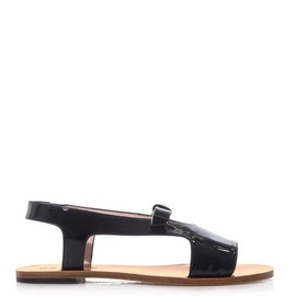 CARVEN - Patent leather bow sandals