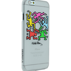 MSY GRAPHT Keith Haring Collection Ice Case for iPhone 6 Heart/Clear×Gold