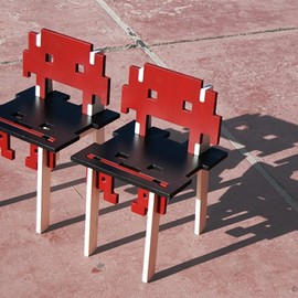 Space Invaders - the game over chair