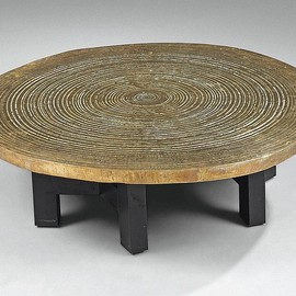 ADO CHALE - round low table, ca 1975