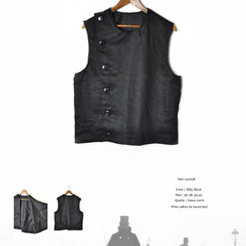 BLACK SIGN - Linen Twill Swindler Vest