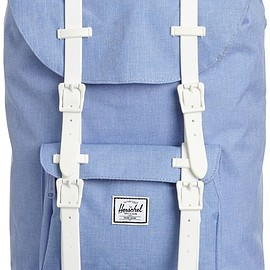 Herschel Supply Co. - Little America Mid-Volume Chambray Crosshatch/White Rubber (Chambray Crosshatch/White Rubber)