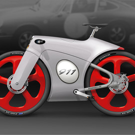 Bastiaan Kok industrial design - Porsche bicycle concept