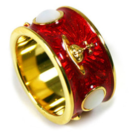 Vivienne Westwood - KING RING red/gold