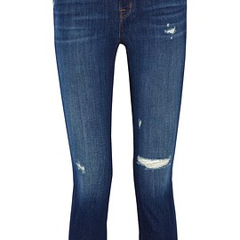 J Brand - Alana cropped distressed high-rise skinny jeans