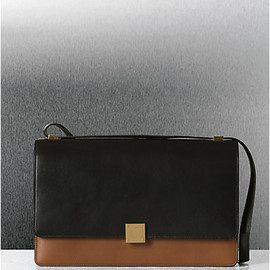 CELINE - CASE BAG MEDIUM IN BICOLOR CALFSKIN CAMEL