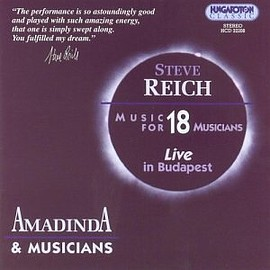Steve Reich - Music for 18 Musicians   Live in Budapest