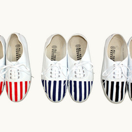 TOGA - Stripe Print Shoes