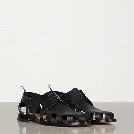 BOTTEGA VENETA - LACE-UP SHOES IN STORM CUIR Lace Ups