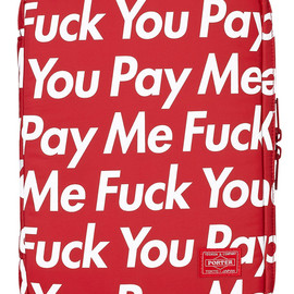 Supreme - Supreme x PORTER   Fuck You Pay Me iPhone & iPad Cases