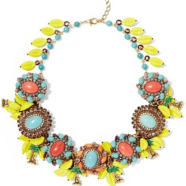 Erickson Beamon - Copacabana gold-plated, crystal and enamel necklace