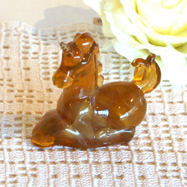 "kino - Made in USA 1960s Glass object ""Unicorn"""