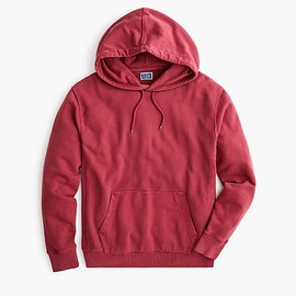 J.CREW - Garment-dyed french terry hoodie