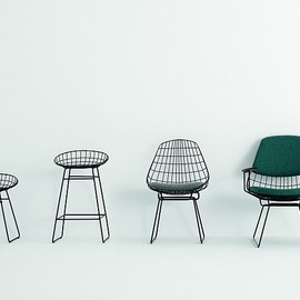 Pastoe - Pastoe Chairs: Wire Collection - FM06/FM05 - pastoe wire collection . Design: cees braakman - 1958