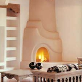 Aurora Living Room Set In Front Of Kiva Fireplace