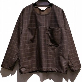 SUNSEA - Wool check long Tee
