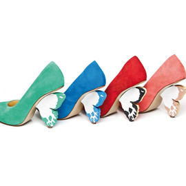 Alberto Guardiani - Color suede pump with butterfly heel